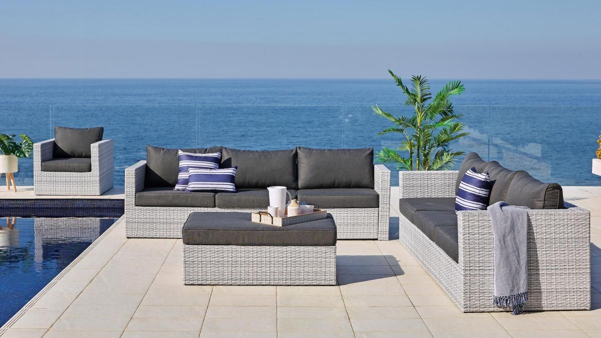 Buy Argos Outdoor 4-Piece Corner Modular Lounge Setting
