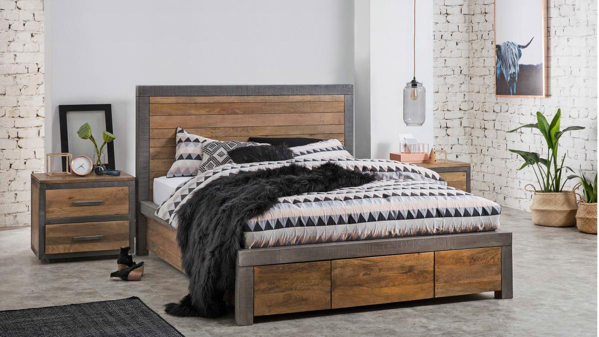 Buy Soho 2 Drawer Bedside Table Harvey Norman Au