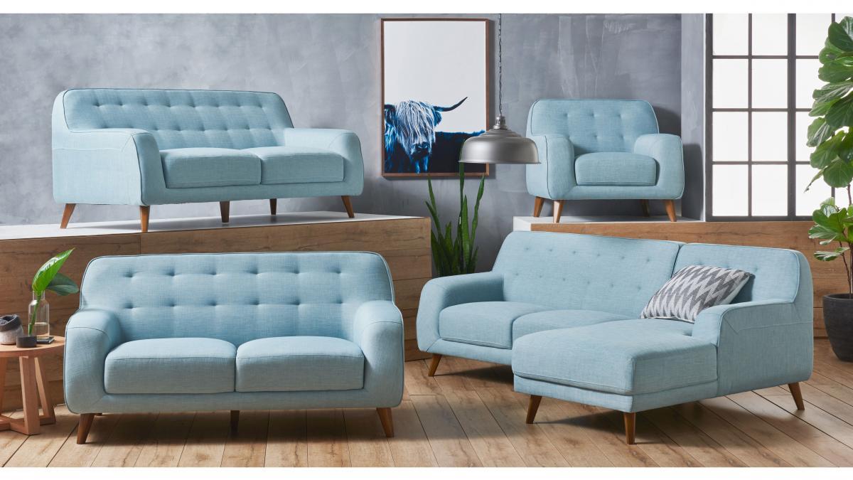 Buy Brosnan Fabric Sofa With Chaise Harvey Norman Au