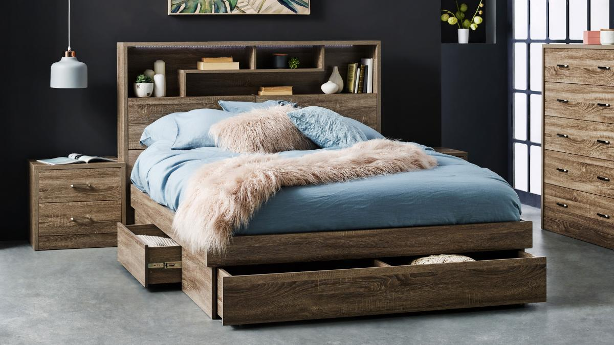 Edge Bed Harvey Norman Au, Queen Size Headboard With Storage And Lights