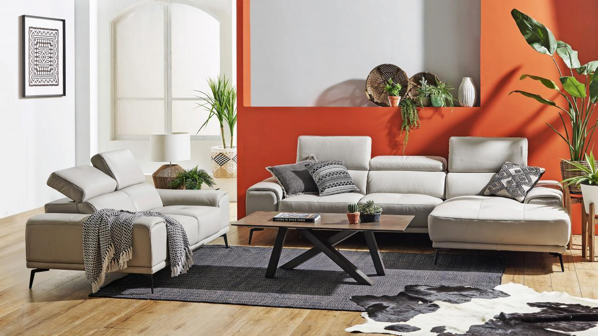 Buy santosa 2 seater leather sofa harvey norman au - Lounger for the garden crossword ...