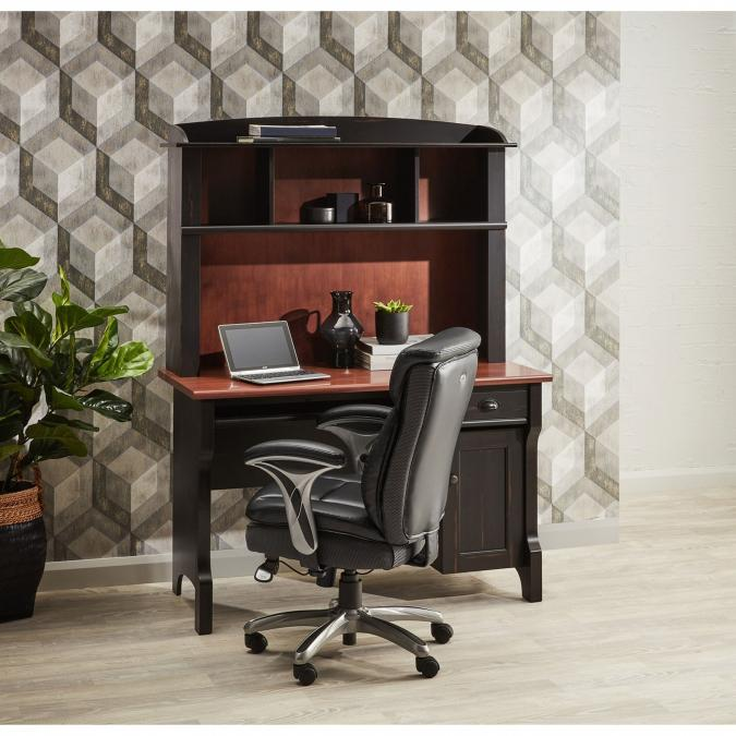Buy Murray Desk With Hutch - Black