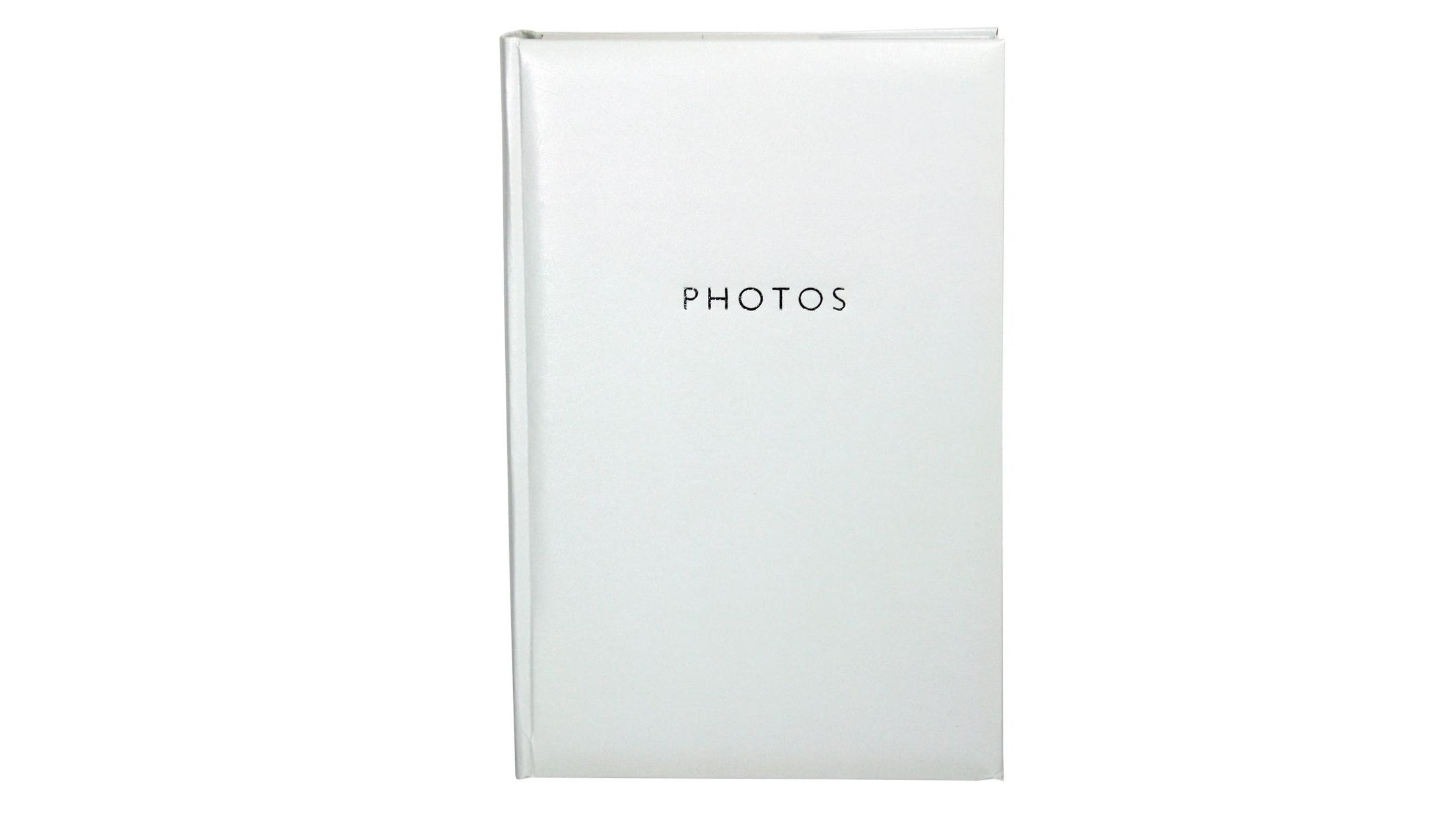 Image of Platinum Glamour 4x6 Slip-In 4x6 300 Photo Album - White