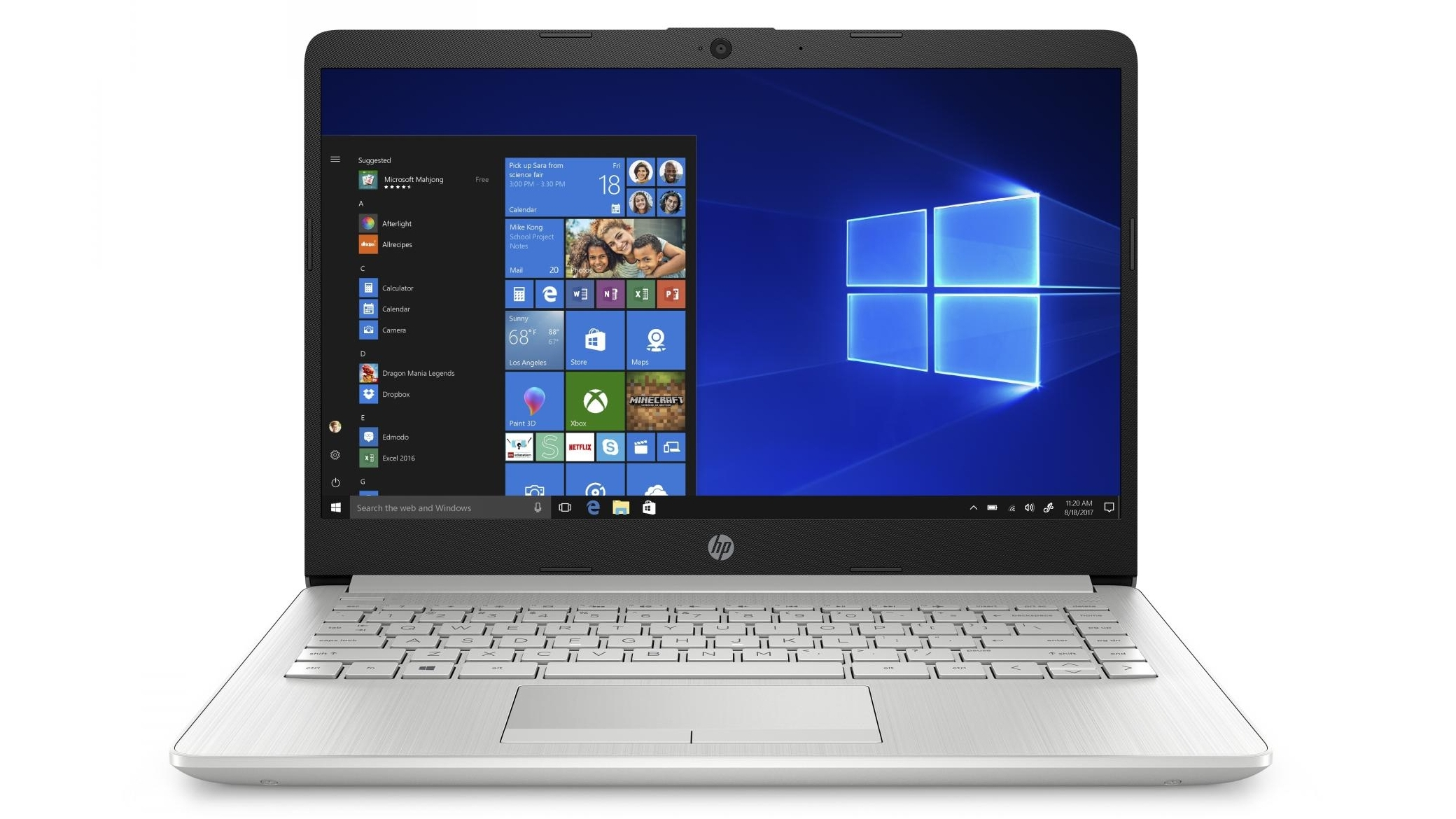 Buy Hp 14 Inch A4 4gb 128gb Ssd Laptop Natural Silver Harvey Norman Au