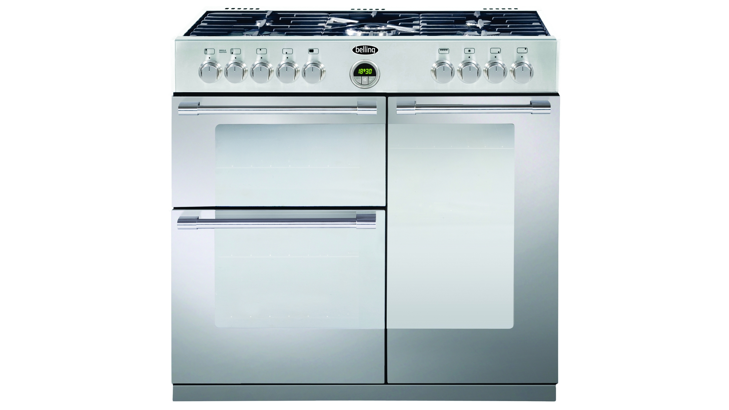 Buy Belling 900mm Sterling Dual Fuel Freestanding Cooker - Stainless ...