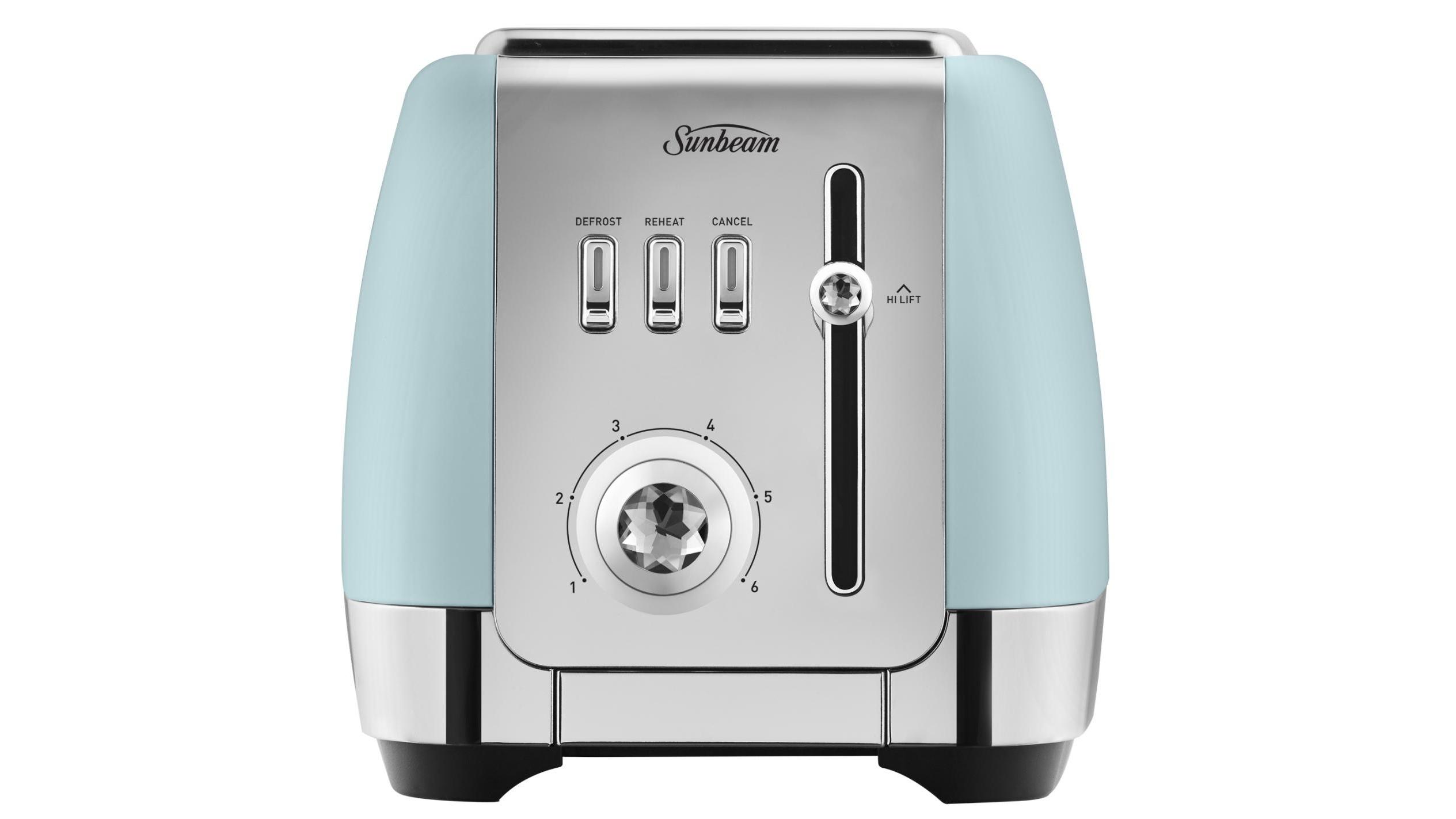 Buy Sunbeam London Collection 2 Slice Toaster - Light Blue | Harvey ...