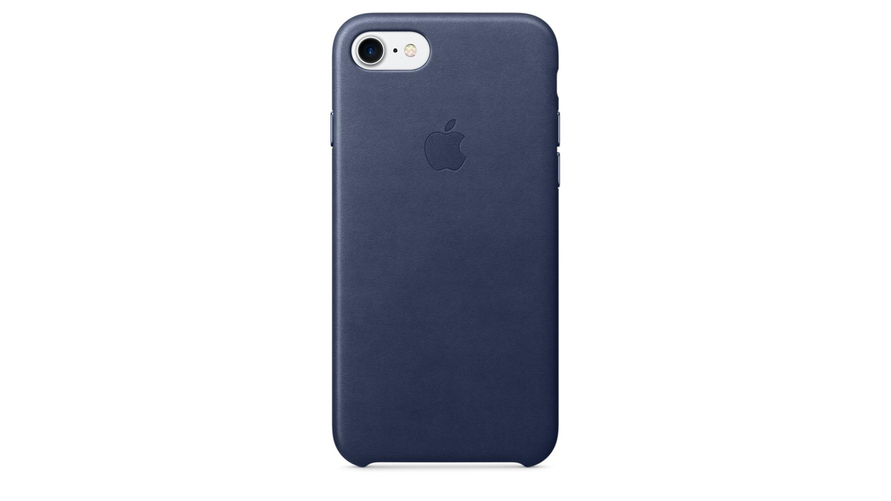 buy popular 90cc8 578e7 Apple iPhone 7 Leather Case - Midnight Blue