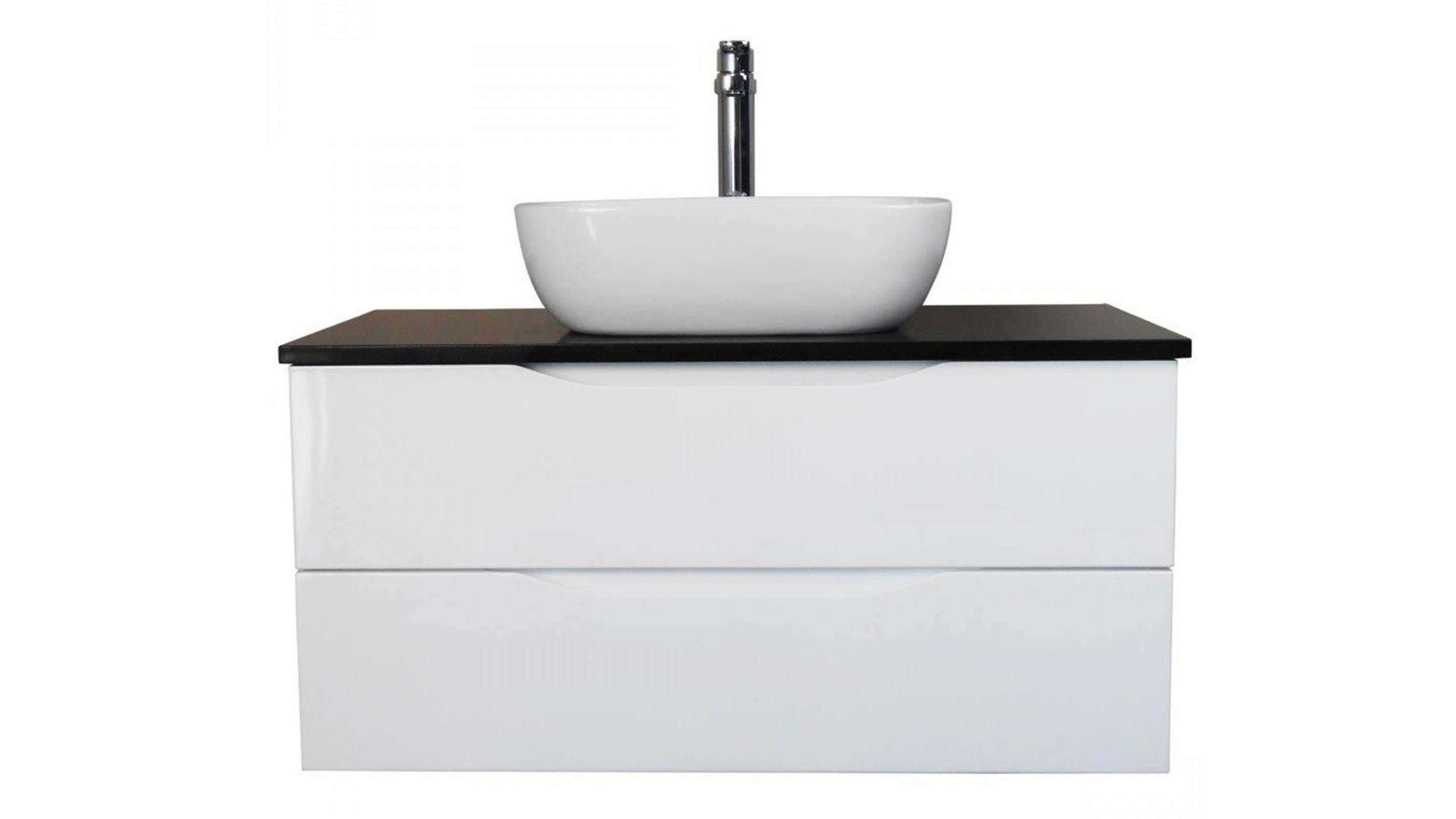 Buy Ledin Preston 900mm Wall Hung Vanity with Stone Benchtop ...