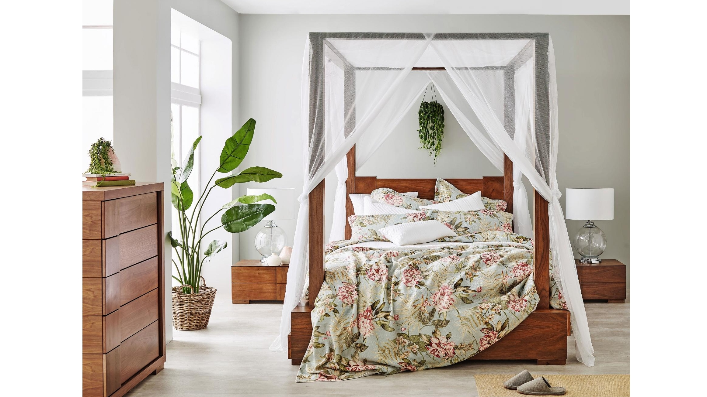Buy L Avenue Ivory Bed Canopy Harvey Norman Au
