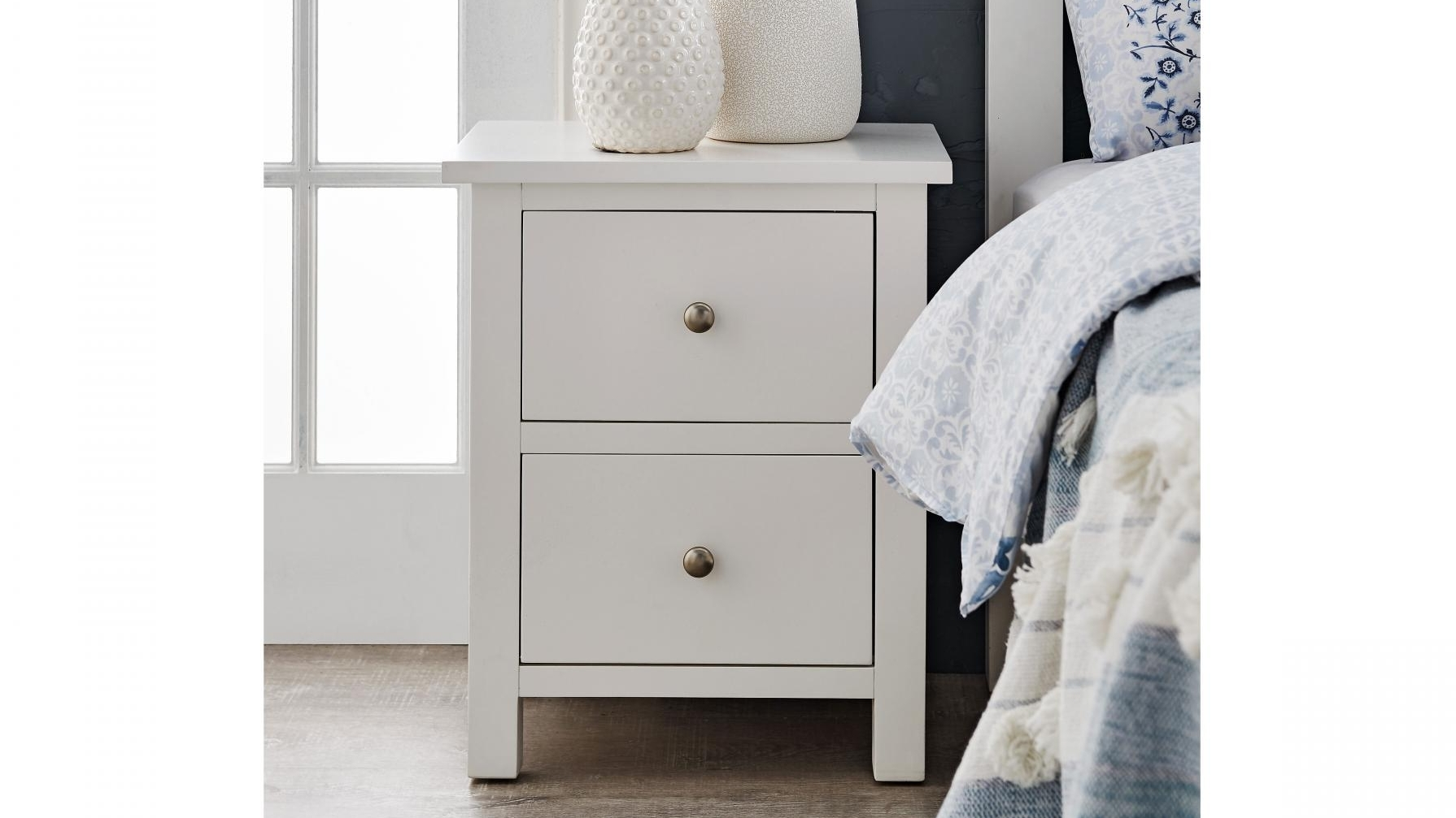 Picture of: Buy Winter 2 Drawer Bedside Table Harvey Norman Au