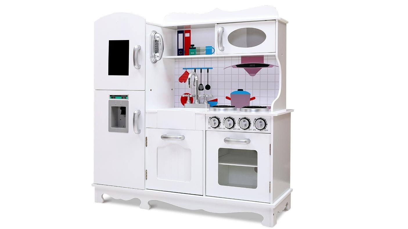 Image of Keezi Kitchen Pretend Play Food Set - White