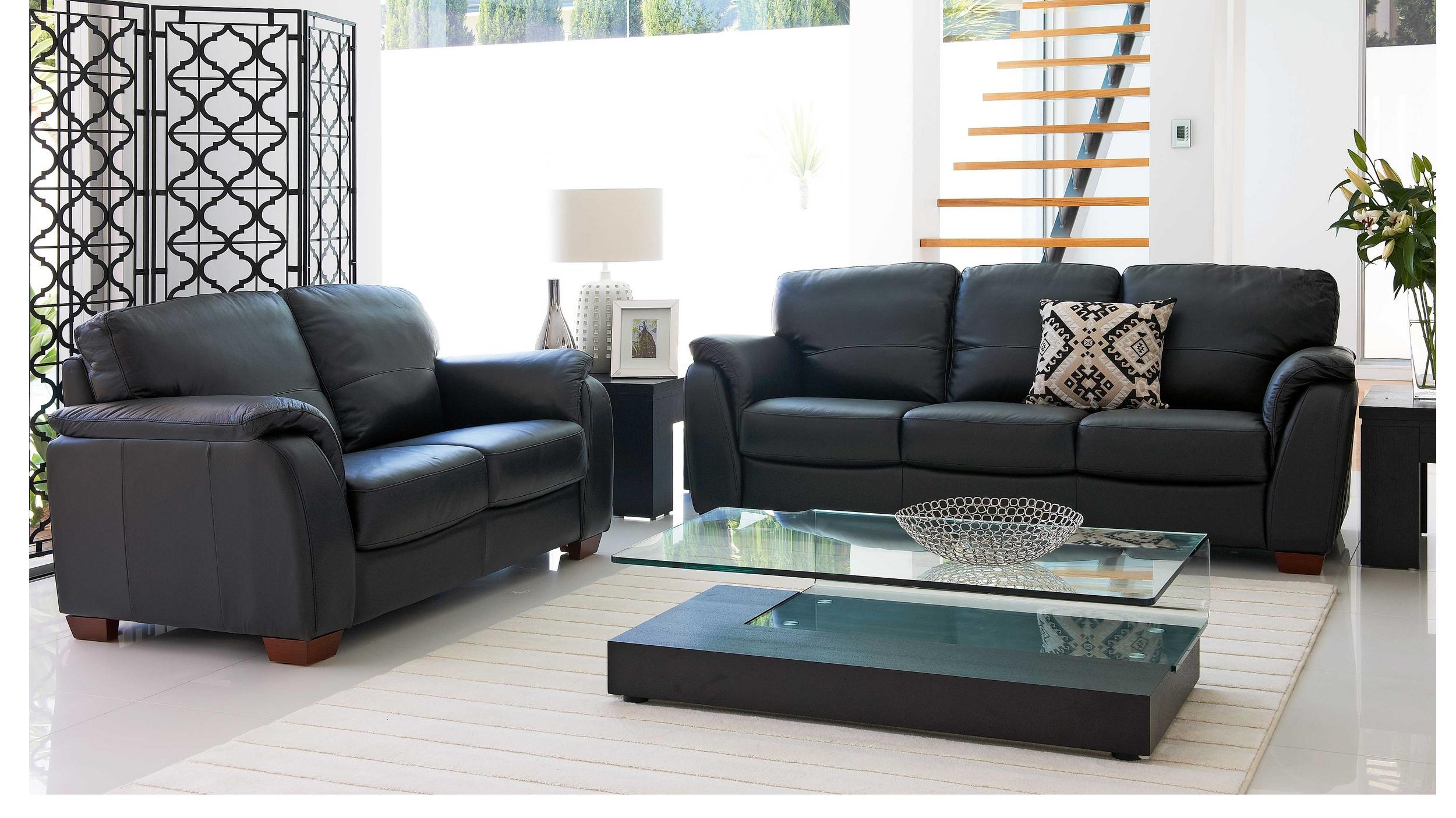 f8581774587 Buy Alyssa Leather Lounge Suite