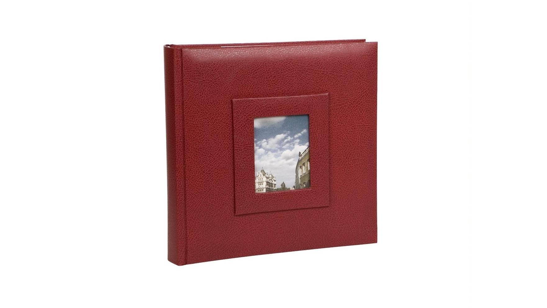 Image of Platinum Concerto 4x6 Slip-In 4x6 200 Photo Album - Red