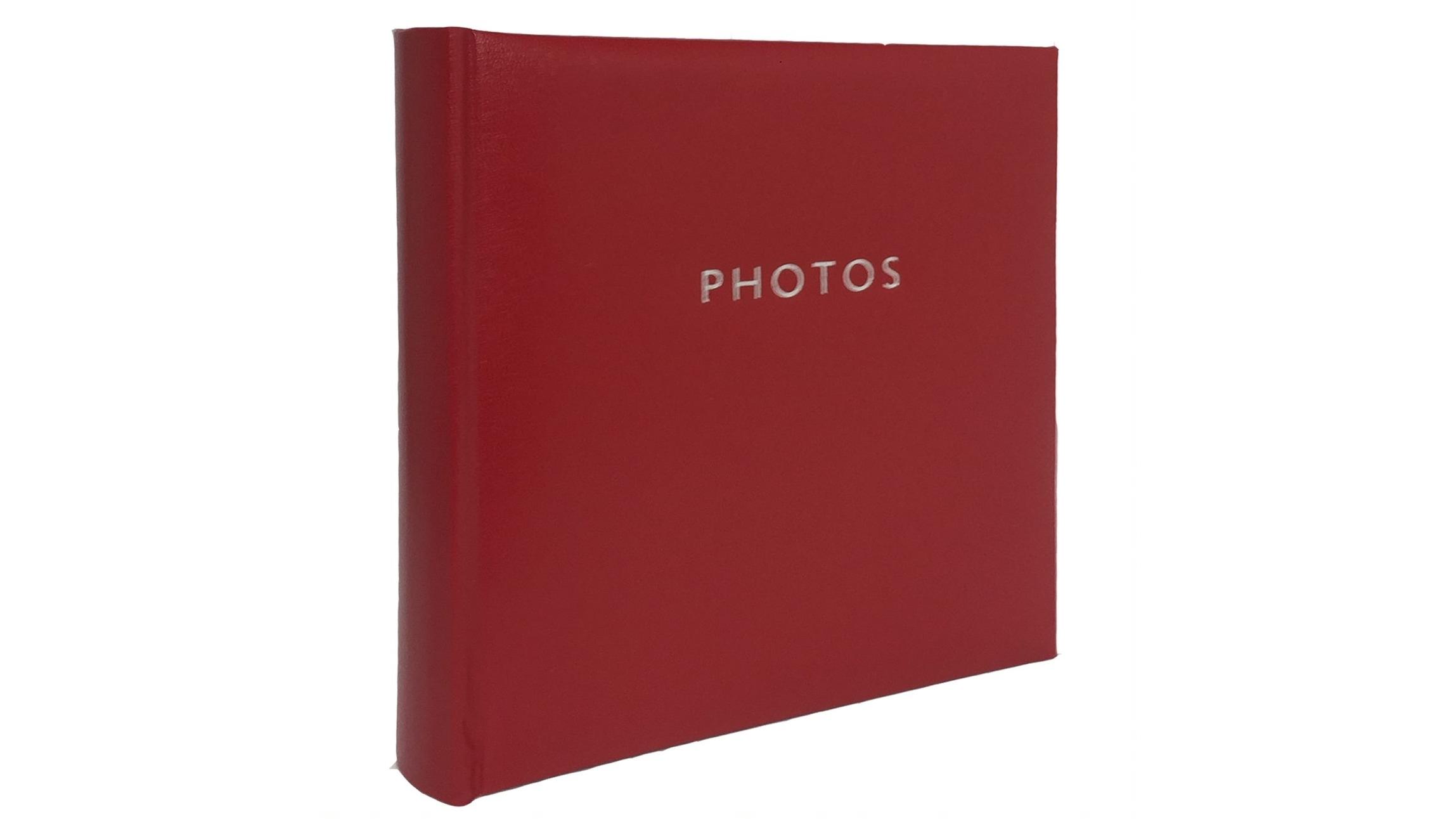 Image of Platinum Glamour Slip-In 4x6 200 Photo Album - Red
