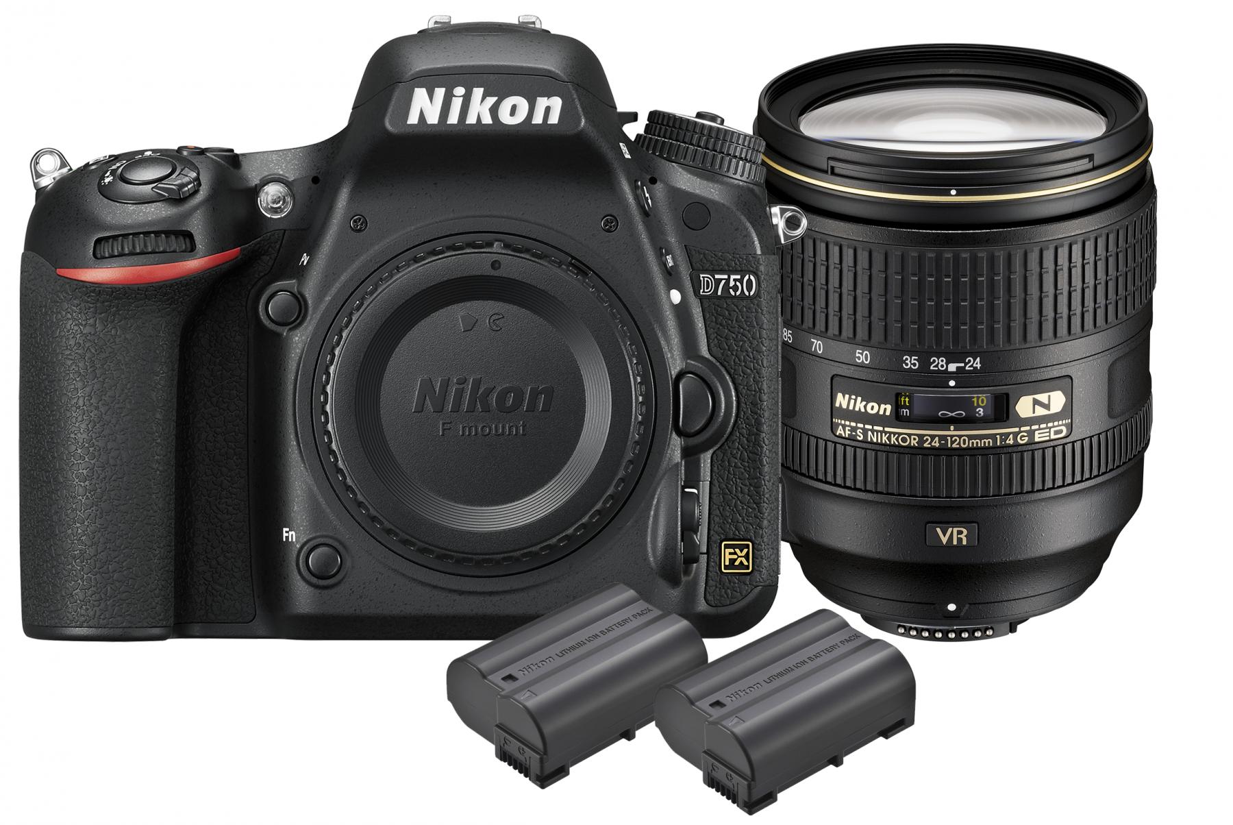 Nikon D750 DSLR Camera with 24-120mm Lens Kit