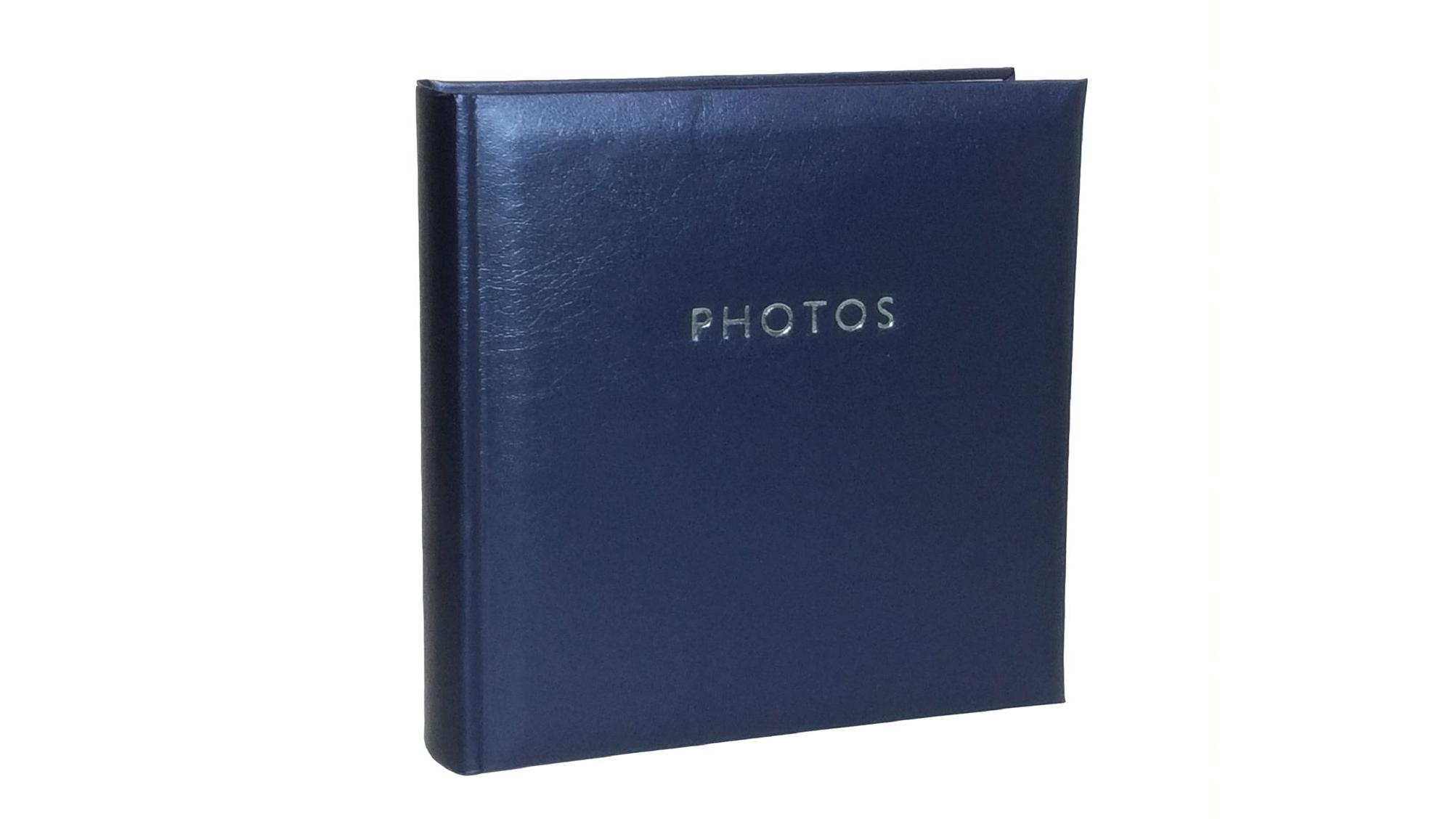Image of Platinum Glamour Slip-In 4x6 200 Photo Album - Blue