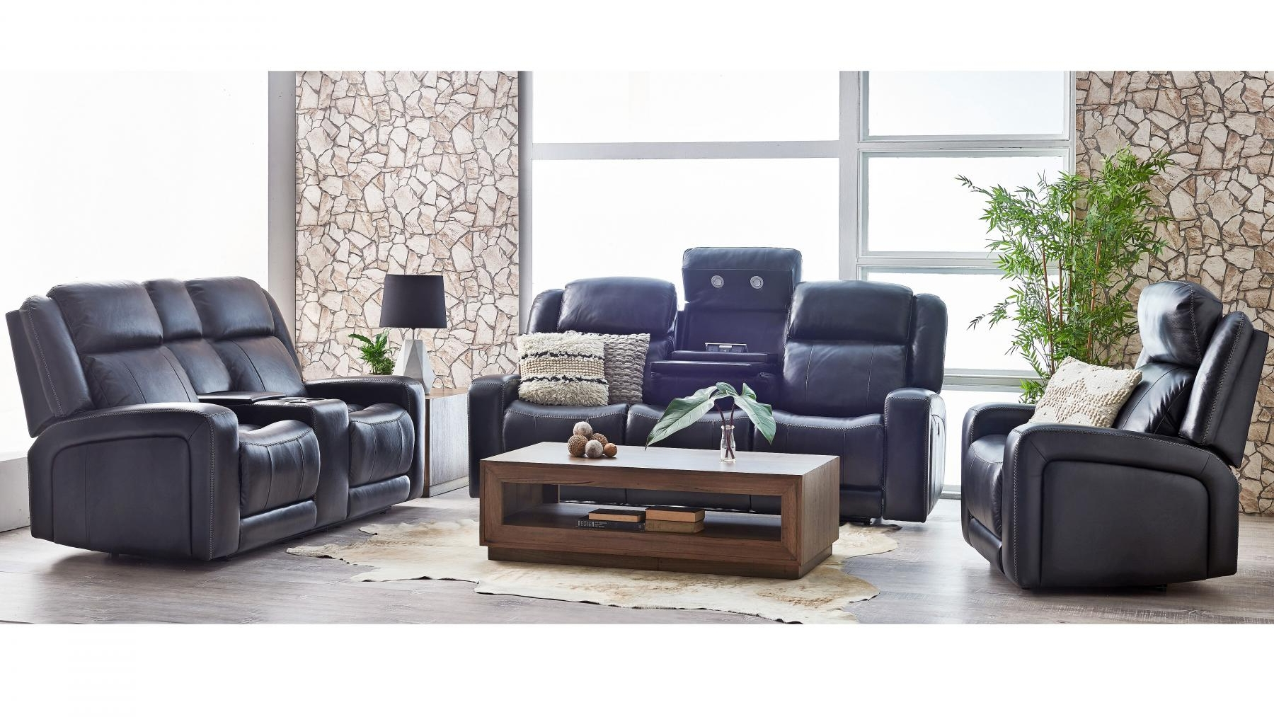 Buy Hampden 3-Seater Powered Leather Recliner Sofa | Harvey ...