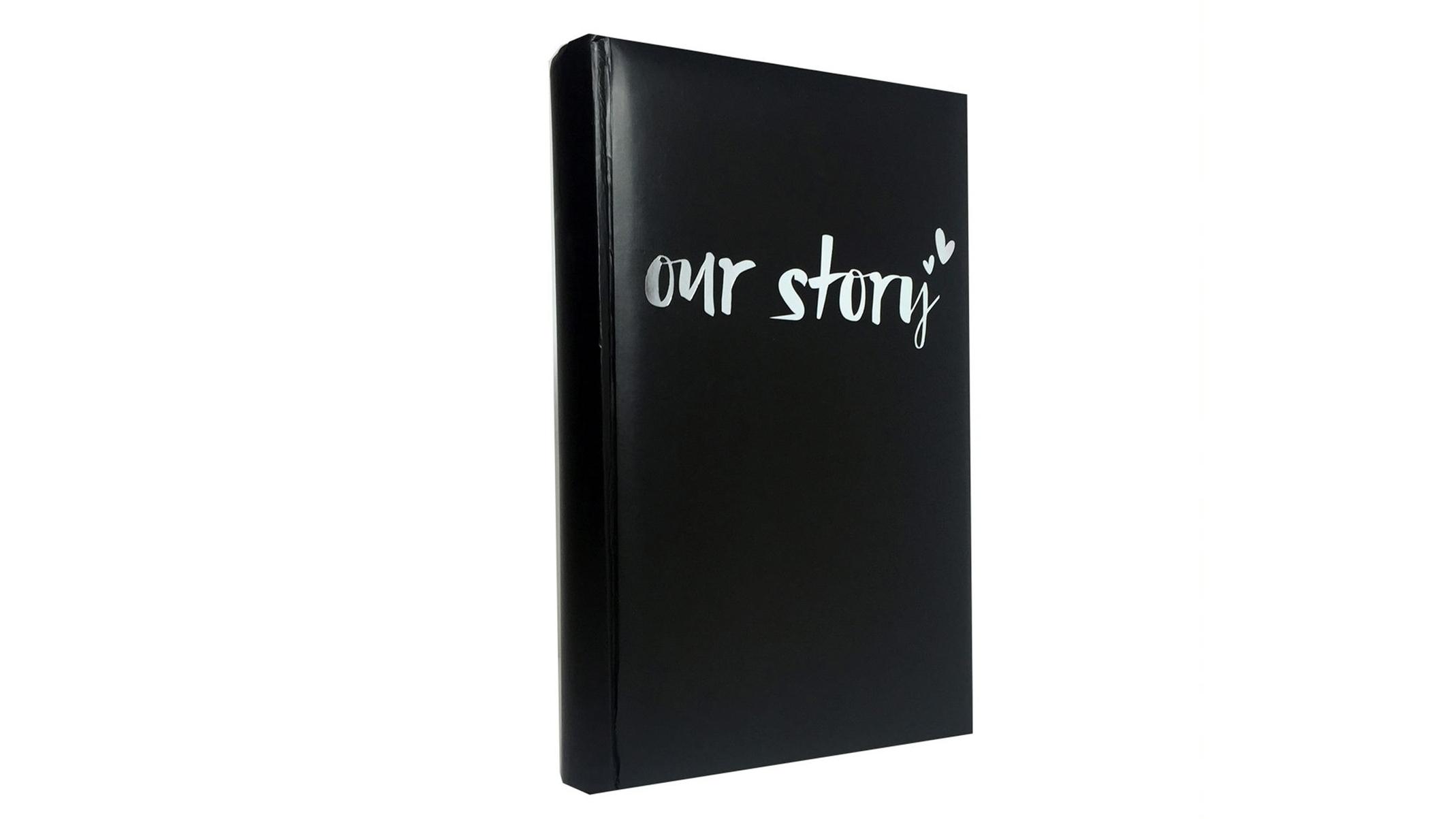 Image of Platinum Moda 'Our Story' Slip-In 4x6 300 Photo Album - Black