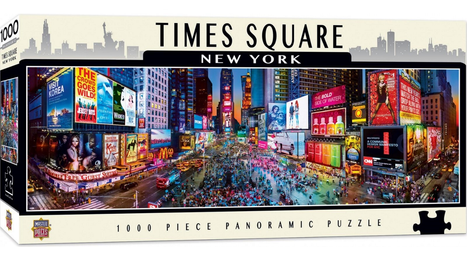 Educational Jigsaw Puzzles 1000 Piece New York Times Square Decor Puzzle Contemporary Puzzles Jigsaw