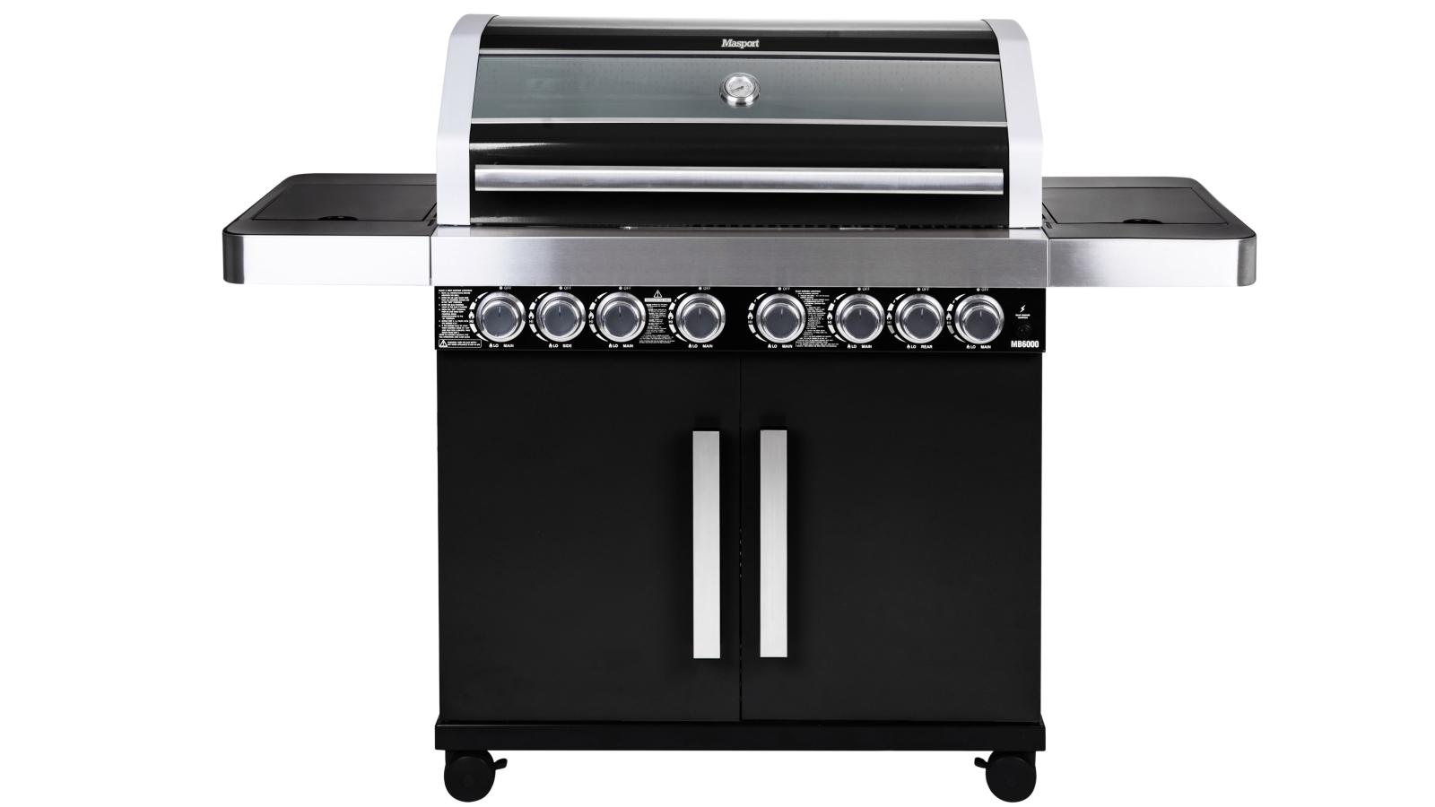 Image of Masport MB6600 V2 6-Burner BBQ - Black