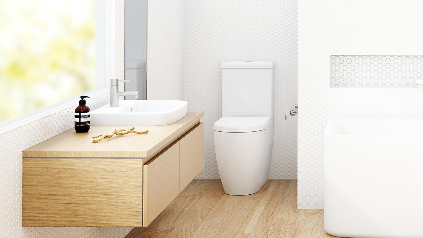 Buy Caroma Urbane Wall Faced Close Coupled Toilet Suite | Harvey ...