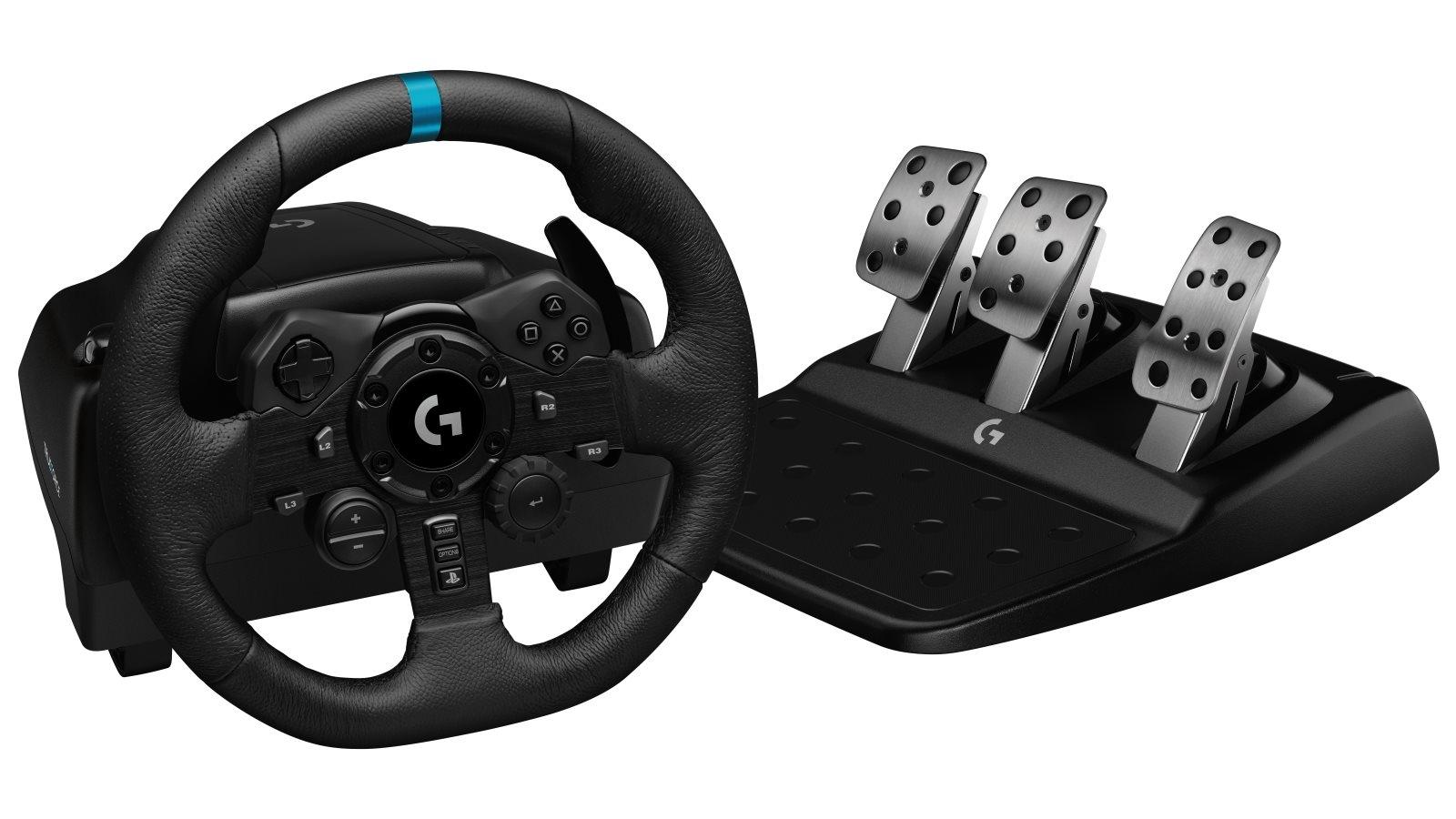 Image of Logitech G923 TRUEFORCE Sim Racing Wheel for PlayStation & PC