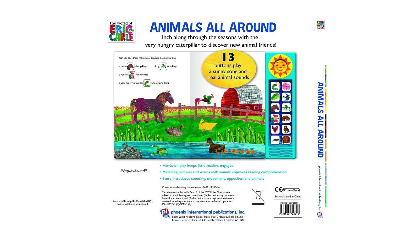 The World Of Eric Carle Animals All Around Play-a-Sound Book