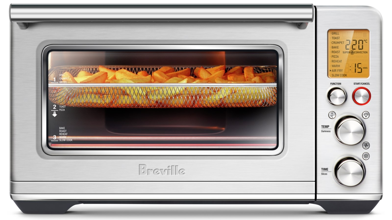 breville the smart oven air fryer brushed stainless steel