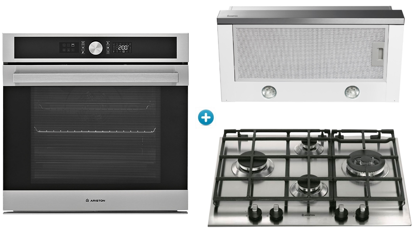 Buy Ariston 600mm Catalytic Oven Cooking Package with Gas Cooktop ...