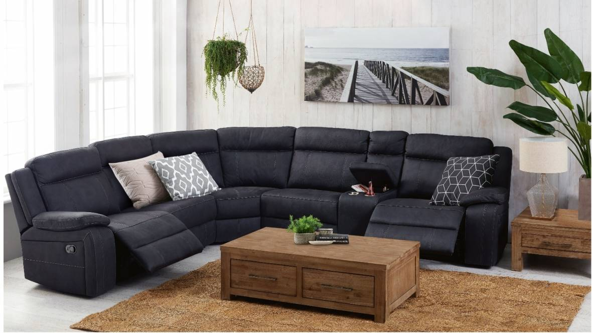 Vienna Fabric Corner Recliner Sofa