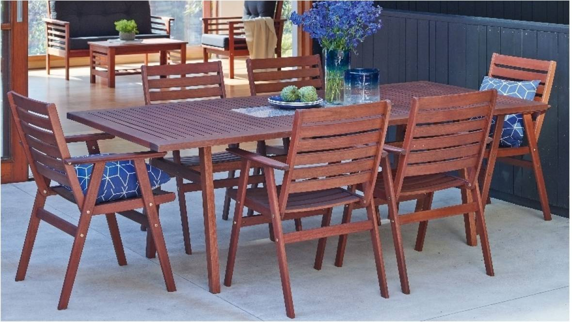 Hunter Outdoor Rectangular Dining Setting