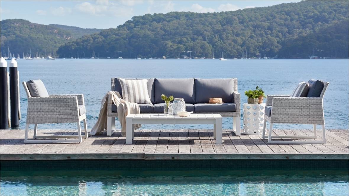 Quay Outdoor 4-Piece Lounge Setting