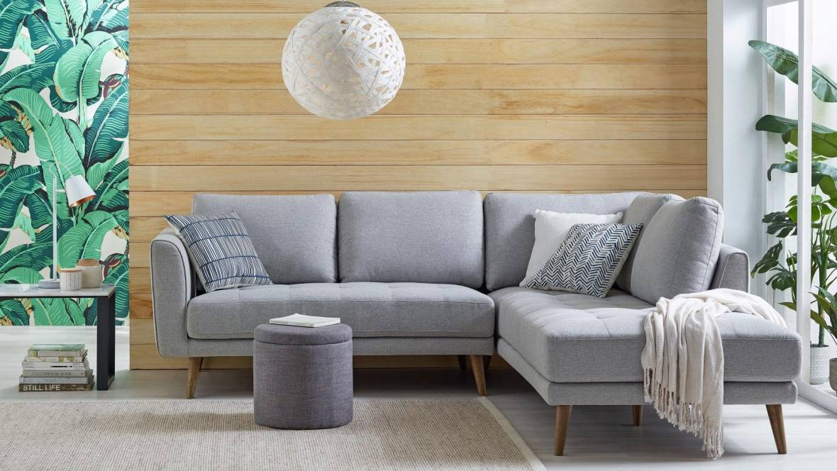 Melossa Corner Fabric Lounge with Chaise