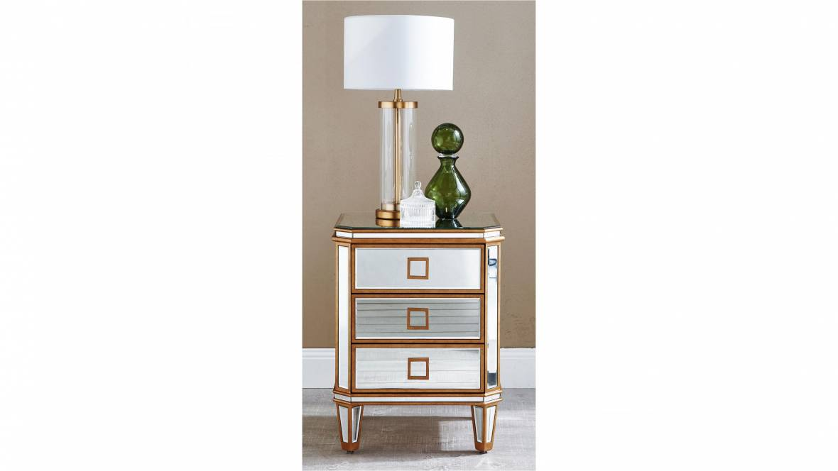 Munroe 3-Drawer Bedside Table