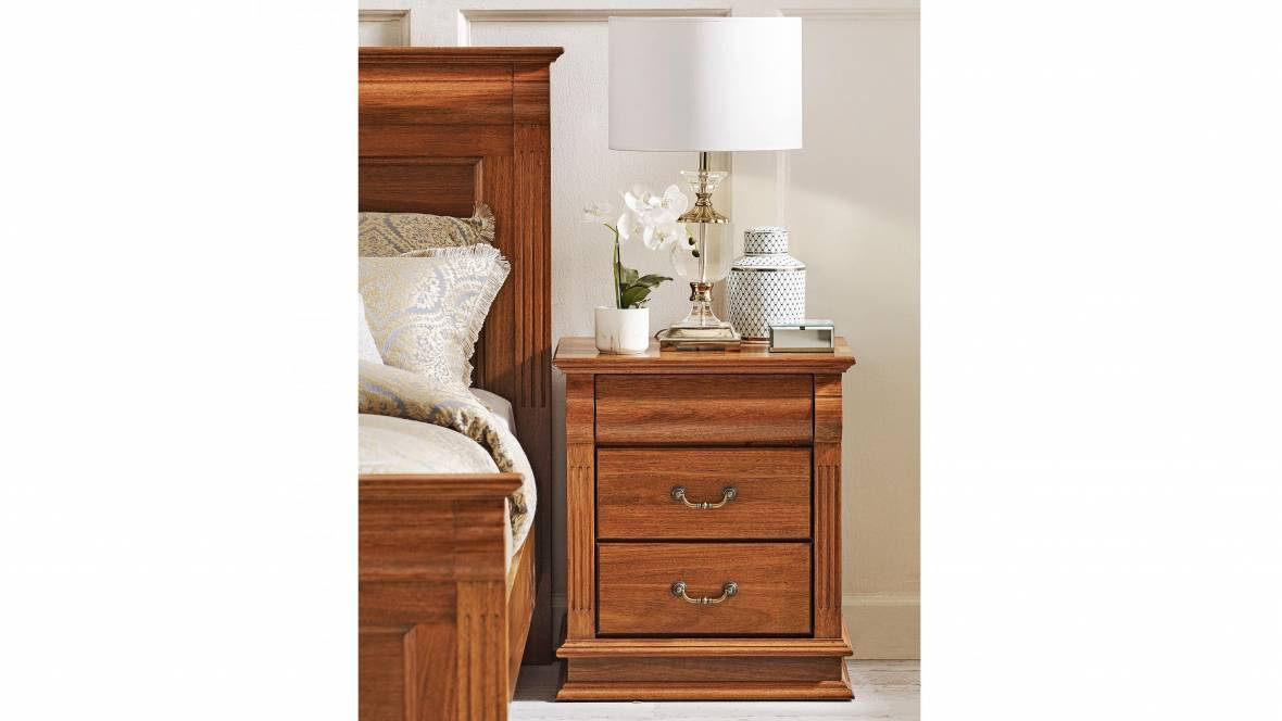 Nowra MK2 3-Drawer Bedside Table