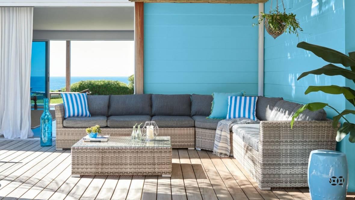 Tahiti Outdoor 4-Piece Large Modular Lounge Setting