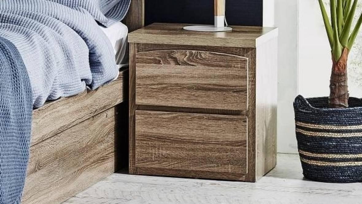 Nest 2-Drawer Bedside Table