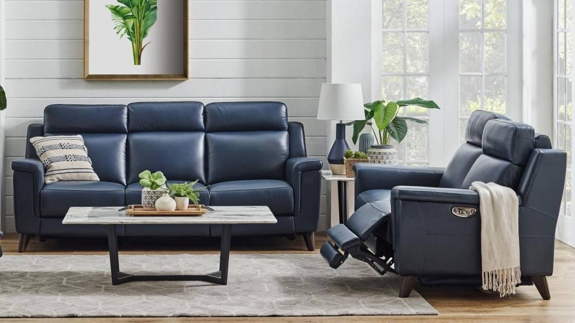 Hamilton Leather Powered Recliner Sofa