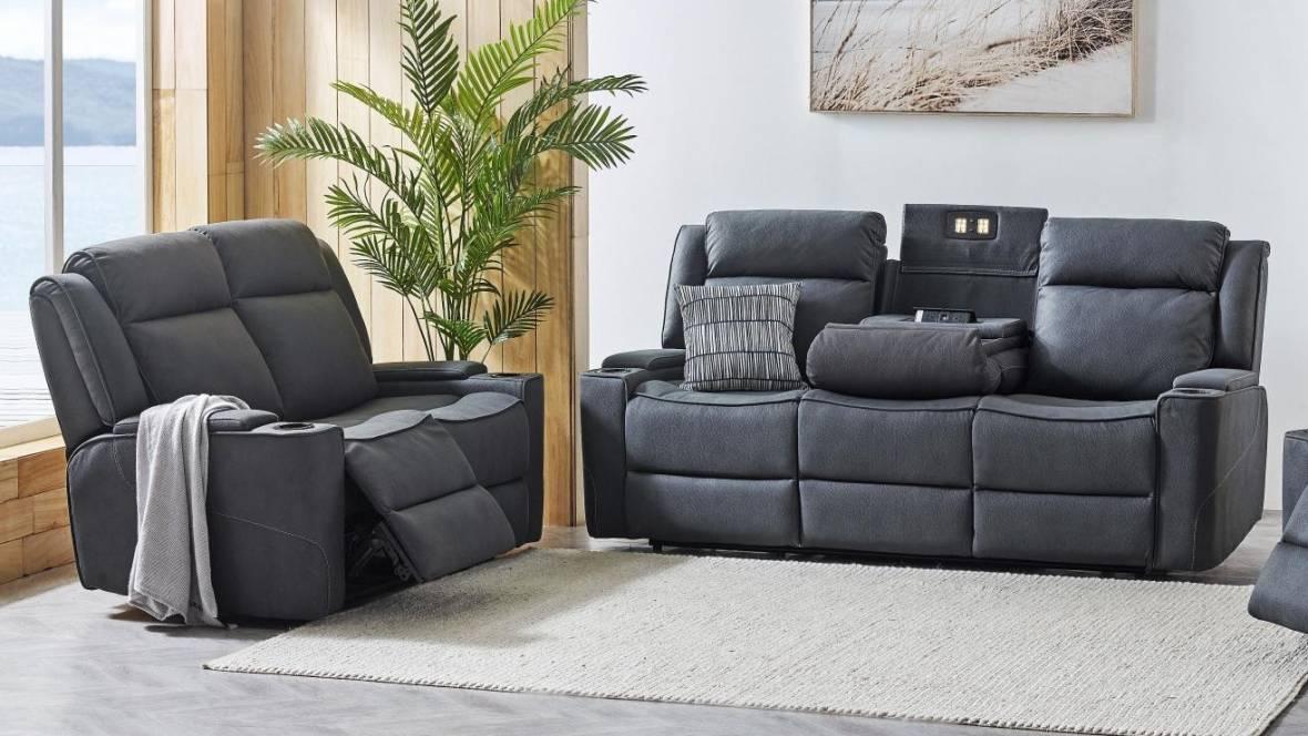 Carlton Fabric Powered Recliner Sofa