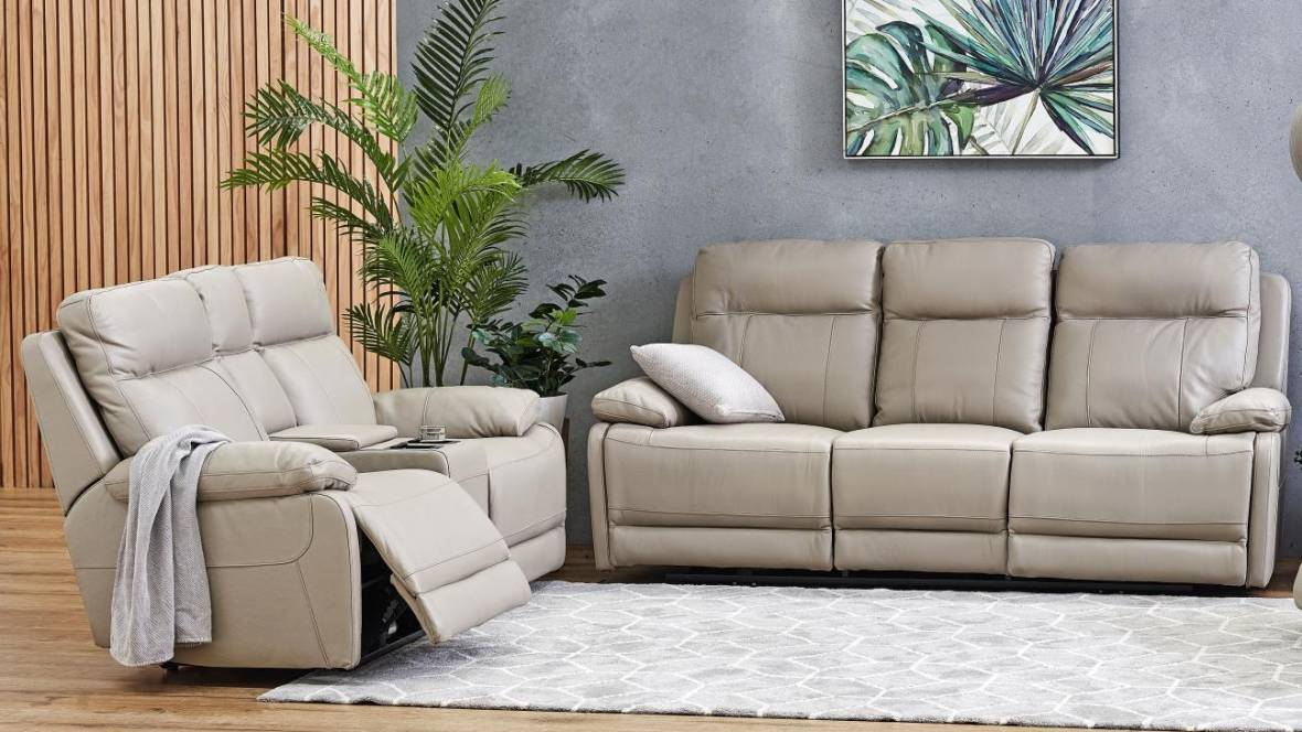 Koko Leather Powered Recliner Sofa