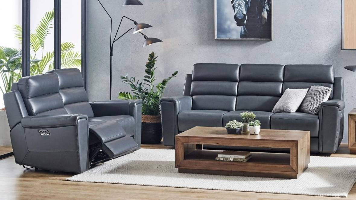 Harlow Leather Recliner Sofa