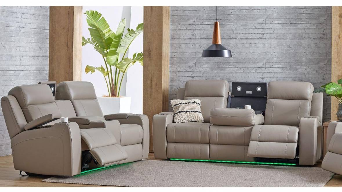 Portman Leather Powered Sofa