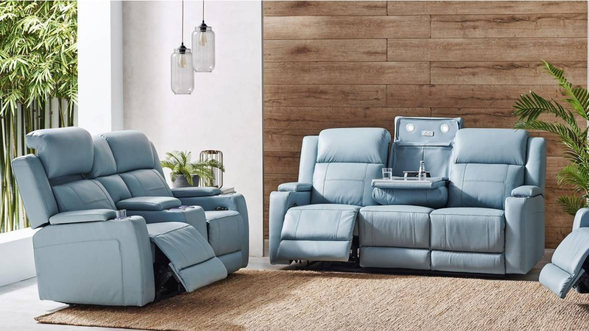 Sabella Leather Powered Recliner Sofa