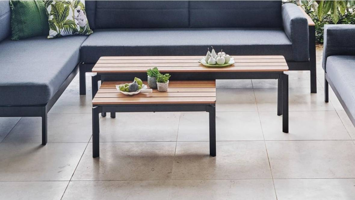 San Remo Outdoor Set-of-2 Coffee Tables