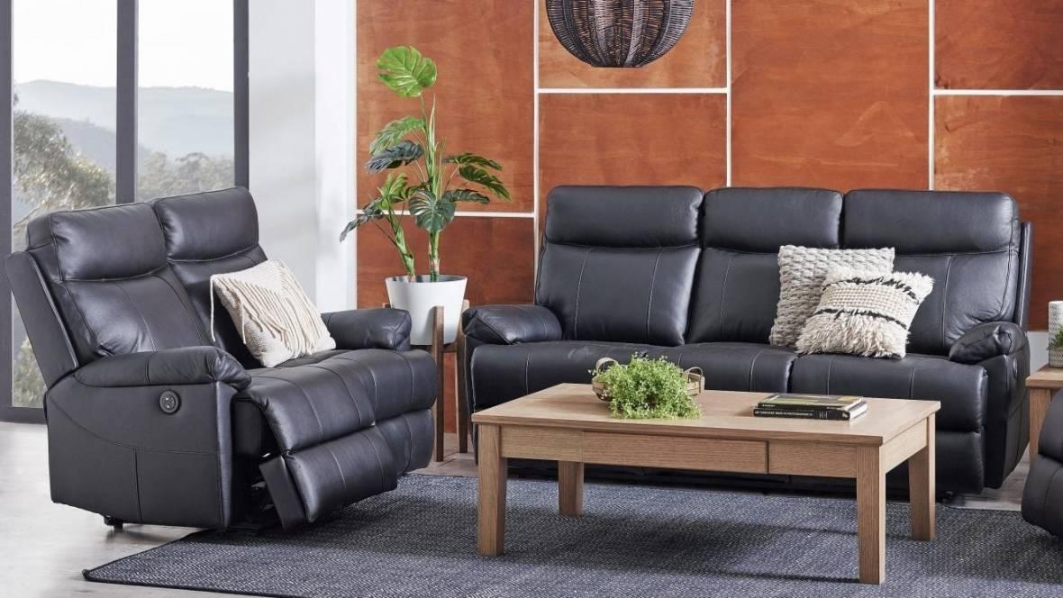 Dusty Leather Sofa