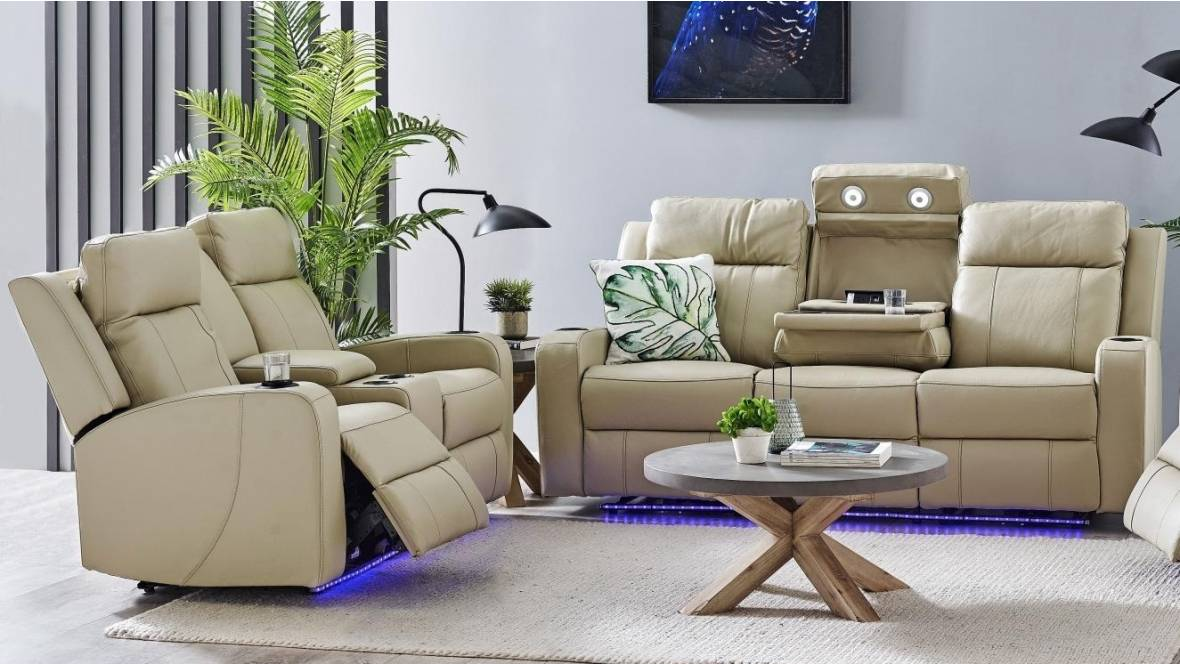Jordan Leather Powered Recliner Sofa