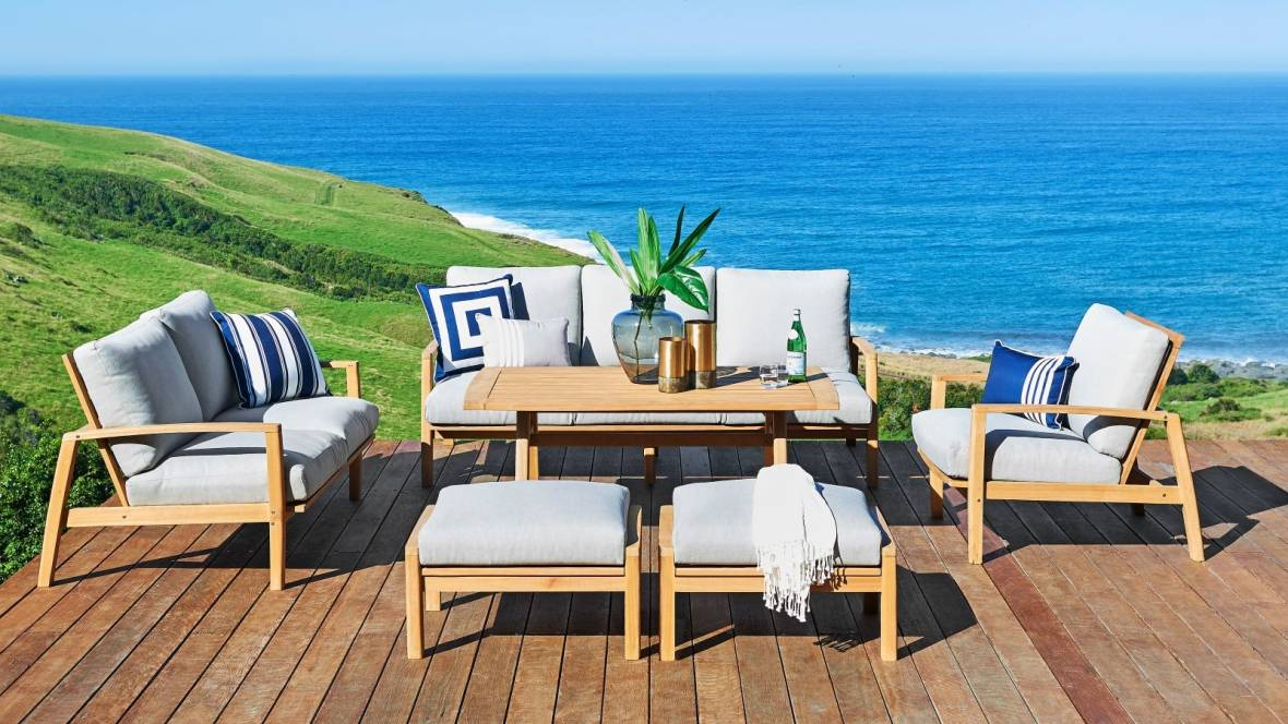 Sawyer Outdoor 6-Piece Lounge/Dining Setting with 2 Seater Sofa