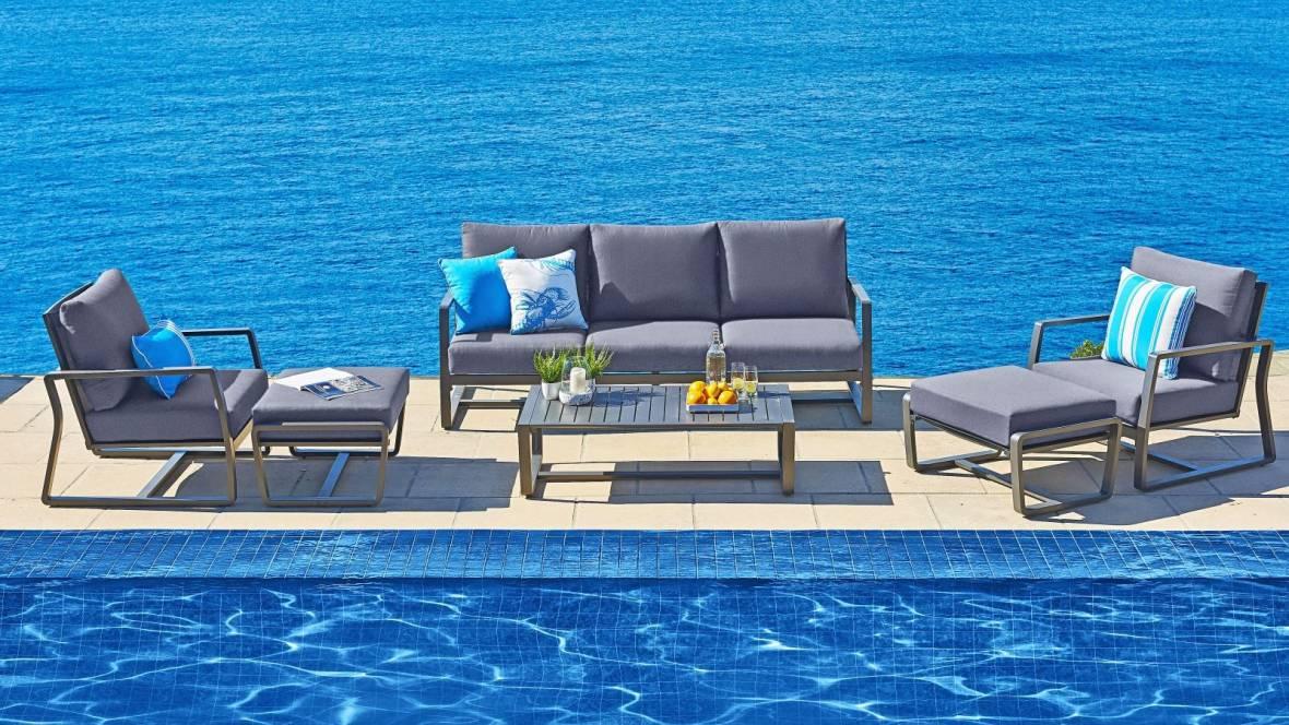 Bon Outdoor 6-Piece Lounge Setting