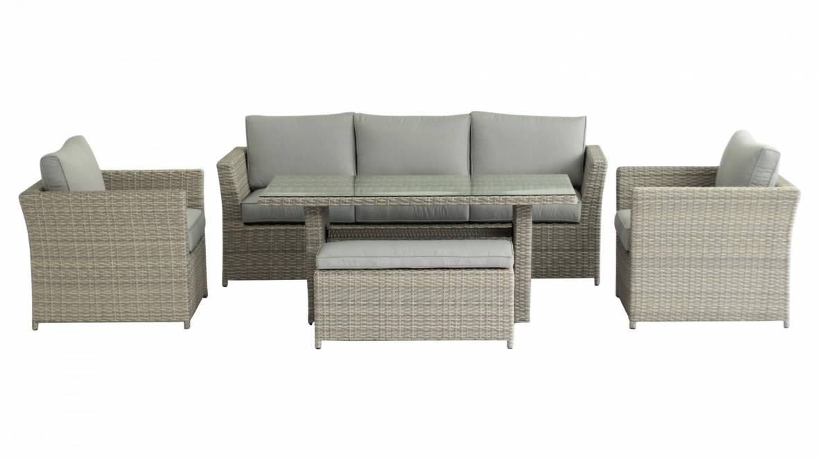 Belbora 5-Piece Outdoor Rectangular Mid-Height Lounge/Dining Setting