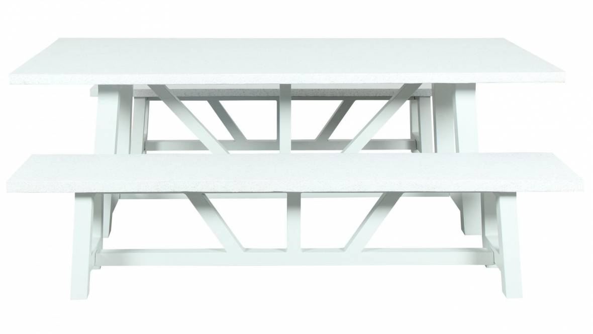 Sonic 3-Piece Outdoor Bench Setting